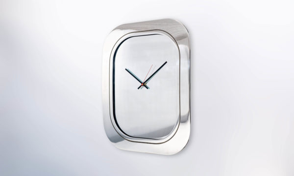 Boeing 747 Window Clock Aluminium Polished