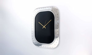 Boeing 747 Window Clock Black Face No Numbers